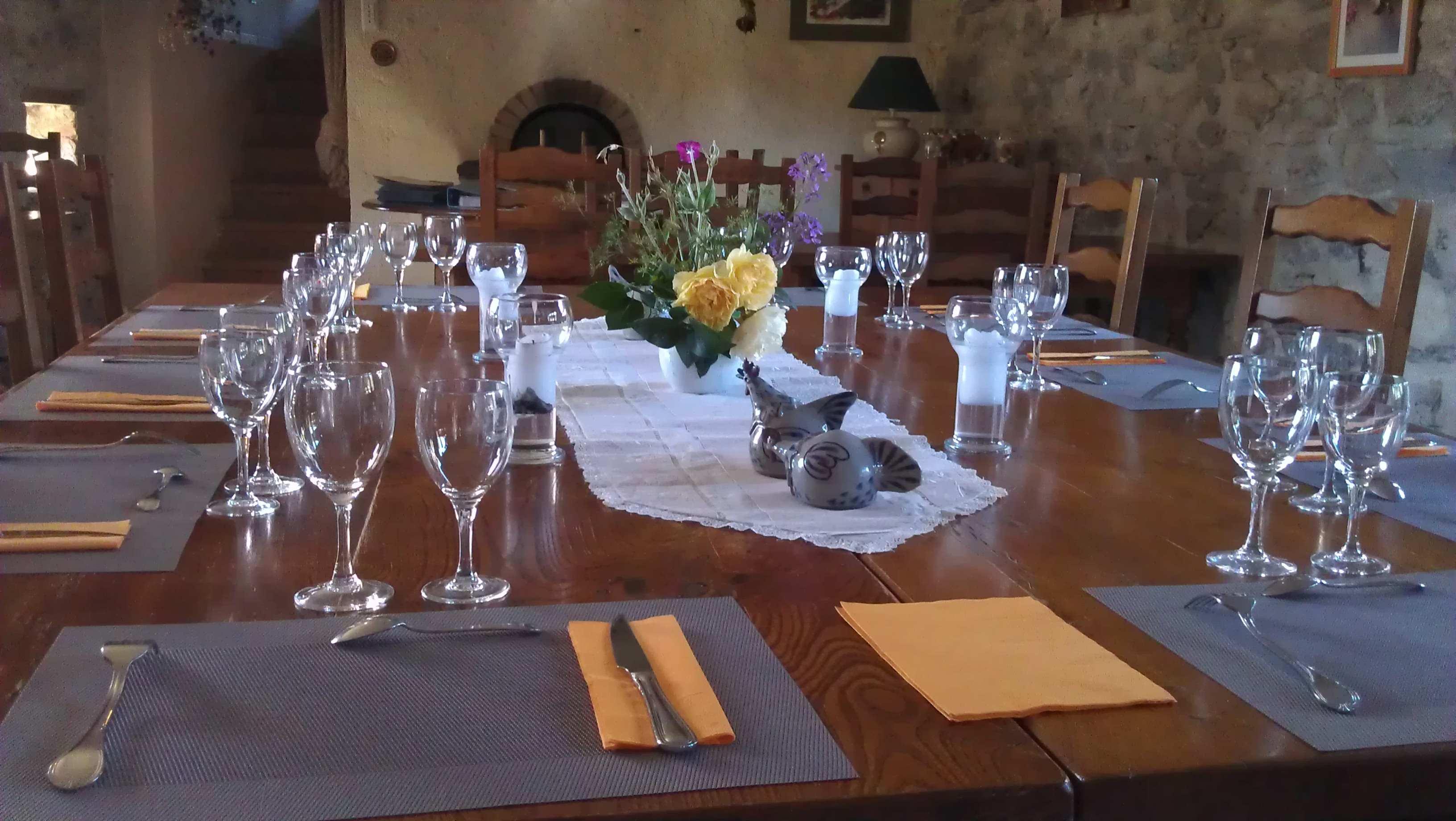 table d'hotes blesle repas terroir