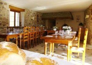salle à manger ferme Auberge Blesle