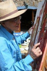 Cours pendant le stage de peinture et d'aquarelle en Haute-Loire