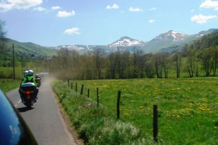 Visite de l'Auvergne en moto des chambres d'hôtes de la Haute-Loire