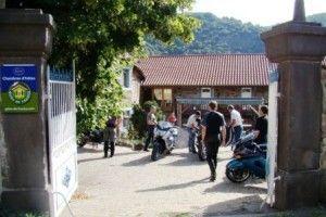 Départ de la visite de l'Auvergne en moto des chambres d'hôtes de la Haute-Loire