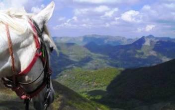 Randonnée équestre sur les volcans d'Auvergne