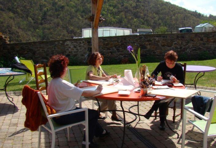 Stage de peinture et d'aquarelle de Corinne Chany en Auvergne - Blesle