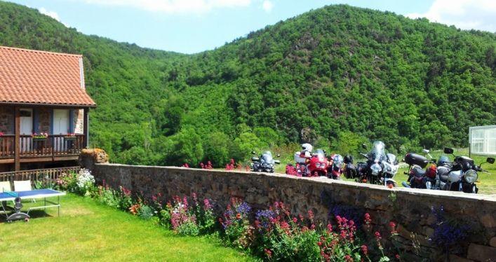 gîtes pour motards en Auvergne