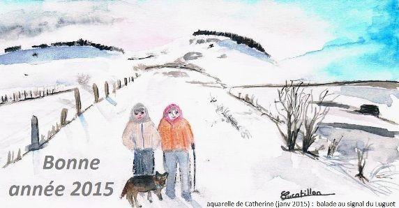 Bonne année 2015 en chambres d'hôtes familiales en Auvergne