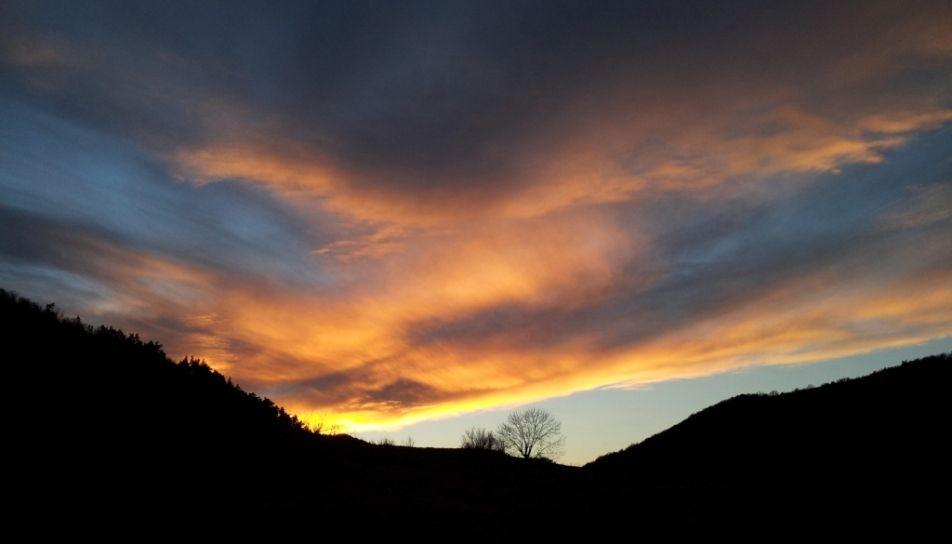 ciel d'Auvergne au printemps