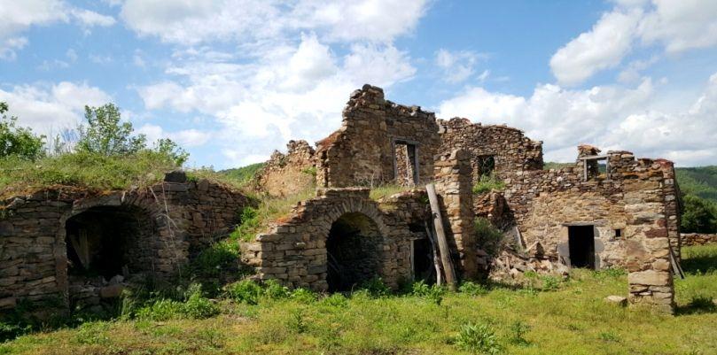 Ruines en Haute-Loire en Auvergne