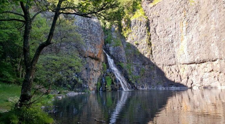 Cascade de Babory à Sailhant dans le Cantal