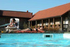 la piscine avec son abri