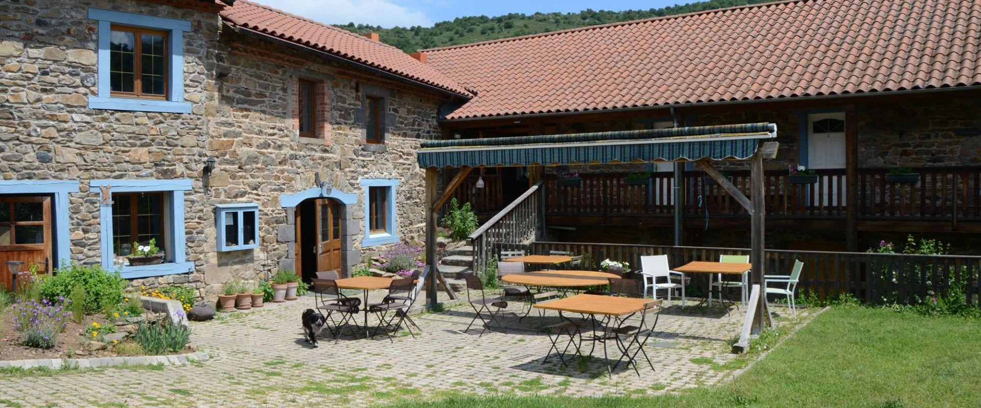 terrassee des chambres d'hôtes de Margaridou