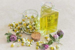 huile vegetale et camomille