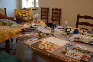 peinture, aquarelle, auvergne