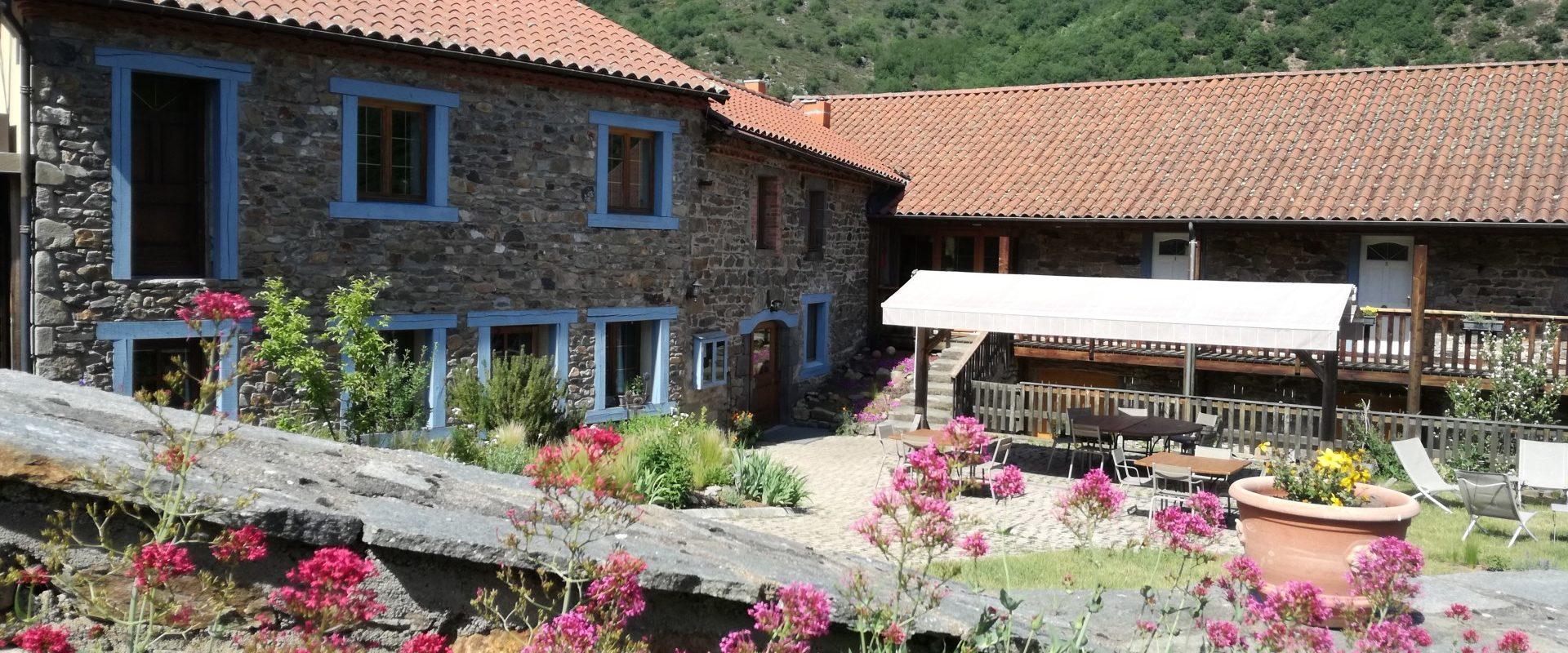 terrasse des chambres d'hôtes de Margaridou